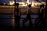 Military police officers stand guard near Tian'anmen Square in Beijing, China on Saturday, August 2, 2008. The city of Beijing is gearing up for the opening ceremonies of the Olympic Games.  Kevin German