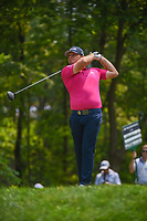 Tyrell Hatton (ENG) watches his tee shot on 11 during 4th round of the 100th PGA Championship at Bellerive Country Club, St. Louis, Missouri. 8/12/2018.<br /> Picture: Golffile   Ken Murray<br /> <br /> All photo usage must carry mandatory copyright credit (© Golffile   Ken Murray)