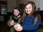 Stephanie and Sarah Smith who visited the new chics at Newgrange Farm. Photo:Colin Bell/pressphotos.ie