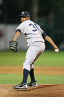 April 11, 2009:  Pitcher Jonathan Ortiz (30) of the Tampa Yankees, Florida State League Single-A affiliate of the New York Yankees, during a game at Joker Marchant Stadium in Lakeland, FL.  Photo by:  Mike Janes/Four Seam Images