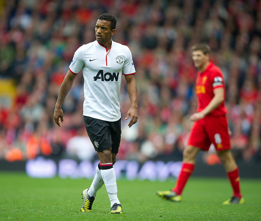 Manchester United's Nani ..Football - Barclays Premiership - Liverpool v Manchester United - Sunday 23rd September 2012 - Anfield - Liverpool..