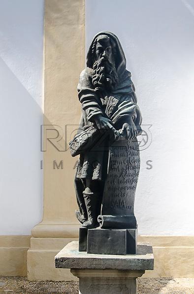 Réplica da escultura do Profeta Isaias, de Aleijadinho (1730-1814). Acervo do Museu de Arte Sacra de São Paulo, São Paulo - SP, 02/2013.