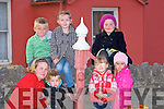 WAITING: Waiting in th cold for the Fleadh Ceoil Parade in Causeway on Thursdayn evening they Front l-r:, Mairead and Matthew Walsh, Ella Diggin and Clodagh Dooly. Back l-r: Paddy Walsh, Aoife Fealy, Tom Walsh and Cara Walsh (Causeway).......