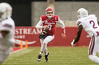 Hawgs Illustrated/BEN GOFF <br /> Austin Allen, Arkansas quarterback, runs the ball in the second quarter against Mississippi State Saturday, Nov. 18, 2017, at Reynolds Razorback Stadium in Fayetteville.