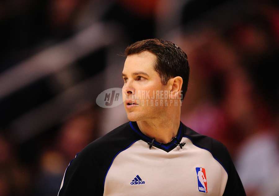 Dec. 28, 2011; Phoenix, AZ, USA; NBA referee Brian Forte during the game between the Phoenix Suns against the Philadelphia 76ers at the US Airways Center. The 76ers defeated the Suns 103-83. Mandatory Credit: Mark J. Rebilas-USA TODAY Sports