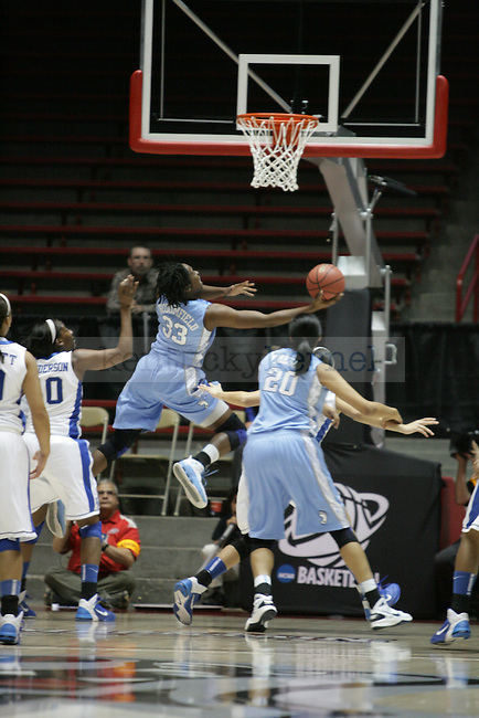 North Carolina's Laura Broomfield goes up for a layup in the first half of UK Hoops' second round NCAA game against UNC in The Pit in Albuquerque, New Mexico, 3/21/11. Photo by Brandon Goodwin | Staff.