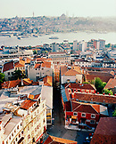 TURKEY, Istanbul, high angle view of city with Galata tower