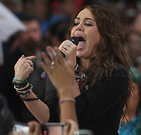New York, NY, 8-28-2009<br /> Miley Cyrus on NBC's Today Show Conert Series <br /> Photo By John Barrett/PHOTOlink.net