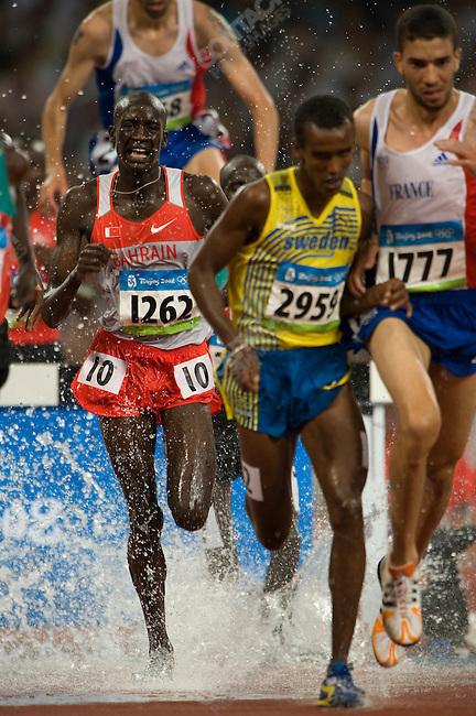 Men's 3000m Steeplechase, Mahiedine Mekhissi-B. (France) - silver, National Stadium, Summer Olympics, Beijing, China, August 18, 2008