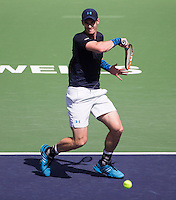 ANDY MURRAY (GBR)<br /> <br /> Tennis - BNP PARIBAS OPEN 2015 - Indian Wells - ATP 1000 - WTA Premier -  Indian Wells Tennis Garden  - United States of America - 2015<br /> &copy; AMN IMAGES
