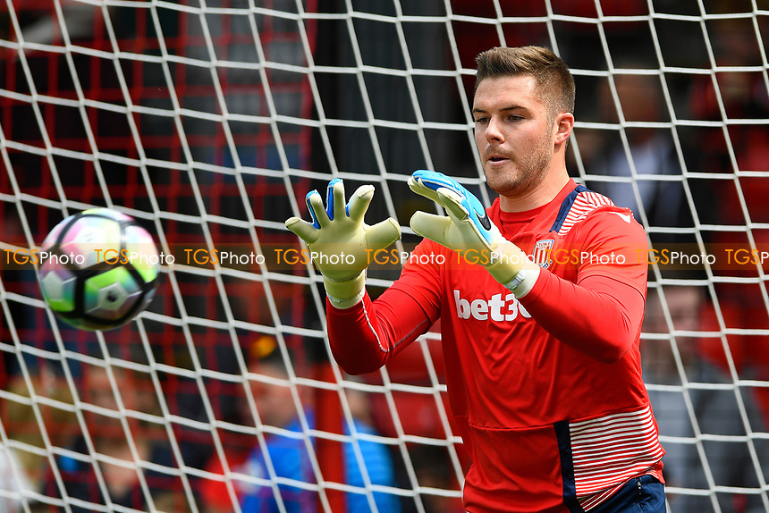 Jack Butland of Stoke City during AFC Bournemouth vs Stoke City, Premier League Football at the Vitality Stadium on 6th May 2017