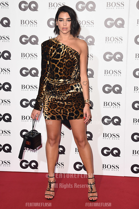 LONDON, UK. September 05, 2018: Dua Lipa at the GQ Men of the Year Awards 2018 at the Tate Modern, London
