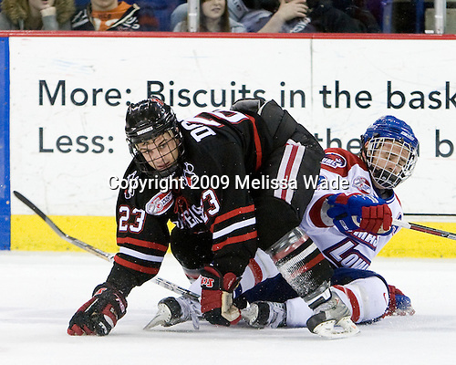 Chris Donovan (Northeastern - 23), Jeremy Dehner (UMass-Lowell - 2) - The Northeastern University Huskies defeated the University of Massachusetts-Lowell Riverhawks 3-1 on Saturday, February 28, 2009, at the Paul E. Tsongas Arena in Lowell, Massachusetts.