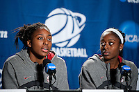 SPOKANE, WA - MARCH 27, 2011: Nnemkadi Ogwumike, Chiney Ogwumike, during the off-day press conference, Stanford Women's Basketball, NCAA West Regionals on March 27, 2011.