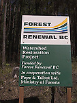Forest renewal conservation sign