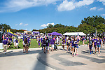 TCU fans enjoy pre-game activities before the game between the Samford Bulldogs and the TCU Horned Frogs at the Amon G. Carter Stadium in Fort Worth, Texas. TCU defeats Samford 48 to 14.