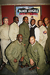 Cast photo - Lamman Rucker (third left back) with left to right Rich Skidmore, Demetrius Grosse, Lamman, Antonio D. Charity, David Wendell Boykins, Thom Scott II. Front row: Derek Shaun and Layon Gray who all star in Layon Gray's Black Angels Over Tuskegee - The Story of the Tuskegee Airman on February 7, 2010 and continuing. Check it out at www.theblackgents.com (Photo by Sue Coflin/Max Photos)