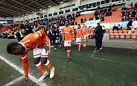 Blackpool players make their way out onto the pitch for kick-off<br /> <br /> Photographer Rich Linley/CameraSport<br /> <br /> The EFL Sky Bet League One - Blackpool v Barnsley - Saturday 22nd December 2018 - Bloomfield Road - Blackpool<br /> <br /> World Copyright &copy; 2018 CameraSport. All rights reserved. 43 Linden Ave. Countesthorpe. Leicester. England. LE8 5PG - Tel: +44 (0) 116 277 4147 - admin@camerasport.com - www.camerasport.com