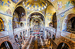 The magnificent and ornate interior of St Mark's Basilica in Venice, Italy.
