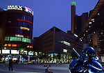 Europe, DEU, Germany, Berlin, Potsdamer Platz in the evening, Daimler Chrysler Areal, Daimler City.....[ For each utilisation of my images my General Terms and Conditions are mandatory. Usage only against use message and proof. Download of my General Terms and Conditions under http://www.image-box.com or ask for sending. A clearance before usage is necessary...Material is subject to royalties. Each utilisation of my images is subject to a fee in accordance to the present valid MFM-List...Contact | archive@image-box.com | www.image-box.com ]