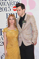 Josephine de La Baume, Mark Ronson arriving at The Brit Awards 2015 (Brits) held at the O2 - Arrivals, London. 25/02/2015 Picture by: James Smith / Featureflash