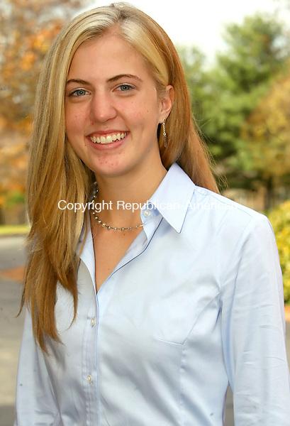 WATERBURY, CT-31 OCTOBER 2006-103106JS03-Holy Cross senior volleyball player Kristen Davis. FOR SUNDAY CONVERSATION  -Jim Shannon Republican-American