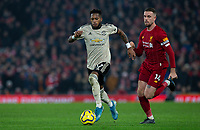 Manchester United's Fred gets past Liverpool's Jordan Henderson<br /> <br /> Photographer Alex Dodd/CameraSport<br /> <br /> The Premier League - Liverpool v Manchester United - Sunday 19th January 2020 - Anfield - Liverpool<br /> <br /> World Copyright © 2020 CameraSport. All rights reserved. 43 Linden Ave. Countesthorpe. Leicester. England. LE8 5PG - Tel: +44 (0) 116 277 4147 - admin@camerasport.com - www.camerasport.com