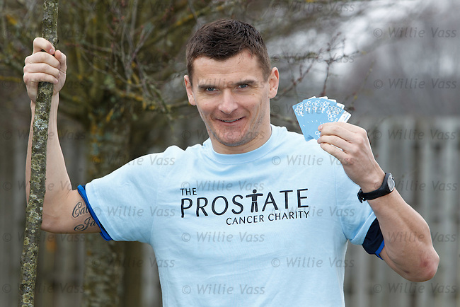 Lee McCulloch at Murray Park launching Prostate Cancer Awareness Week