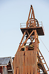 Historic Argonaut Mine headframe overlooking Jackson, Calif.