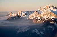 Europe/France/Rhone-Alpes/74/ Haute-Savoie/ Env d' Annecy: La Chaine des Aravis et Le Mont Charvin 2409m - Vue aérienne