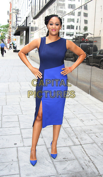 NEW YORK, NY - AUGUST 14:  Tia Mowry at Good Day NY in New York City on August 14, 2017. <br /> CAP/MPI/RW<br /> &copy;RW/MPI/Capital Pictures
