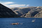 Washington State University eight man crew on the Snake river Eastern Washington State USA