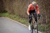 Greg Van Avermaet (BEL/CCC) attacking <br /> <br /> 75th Omloop Het Nieuwsblad 2020 (1.UWT)<br /> Gent to Ninove (BEL): 200km<br /> <br /> ©kramon
