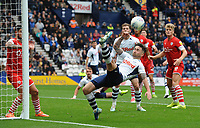 Preston North End's Sean Maguire acrobatically keeps the ball in play <br /> <br /> Photographer Kevin Barnes/CameraSport<br /> <br /> The EFL Sky Bet Championship - Preston North End v Barnsley - Saturday 5th October 2019 - Deepdale Stadium - Preston<br /> <br /> World Copyright © 2019 CameraSport. All rights reserved. 43 Linden Ave. Countesthorpe. Leicester. England. LE8 5PG - Tel: +44 (0) 116 277 4147 - admin@camerasport.com - www.camerasport.com