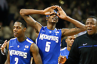 February 9, 2011: Memphis guard Will Barton (5) gestures to the crowd after Memphis defeated Central Florida 63-62 at the UCF Arena Orlando, Fl..
