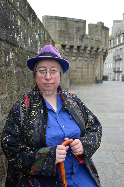 Jo Walton, English writer on May 16, 2016 in Saint Malo, France.
