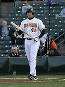 April 26, 2004:  Michael Restovich (41) of the Rochester Red Wings, Triple-A International League affiliate of the Minnesota Twins, during a game at Frontier Field in Rochester, NY.  Photo by:  Mike Janes/Four Seam Images