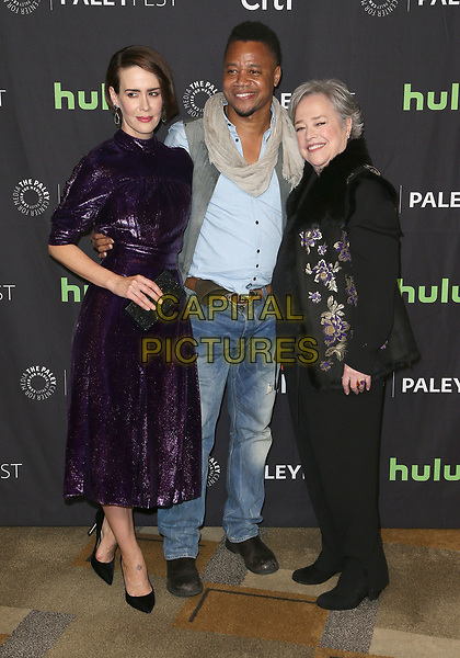 26 March 2017 - Hollywood, California - Sarah Paulson, Cuba Gooding Jr., Kathy Bates. The Paley Center For Media's 34th Annual PaleyFest Los Angeles - &quot;American Horror Story: Roanoke&quot;  held at the Dolby Theatre. <br /> CAP/ADM<br /> &copy;ADM/Capital Pictures