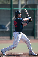 11 April 2010: Saad Anouar of Rouen is seen at bat during game 1/week 1 of the French Elite season won 5-1 by Rouen over Montigny, at the Cougars Stadium in Montigny le Bretonneux, France.