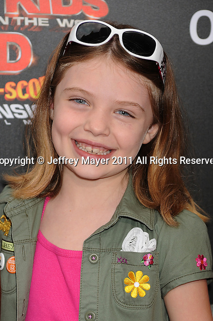 """LOS ANGELES, CA -JULY 31: Madison Moellers arrives at """"Spy Kids: All The Time In The World 4D"""" Los Angeles premiere at the Regal Cinemas L.A. Live on July 31, 2011 in Los Angeles, California."""