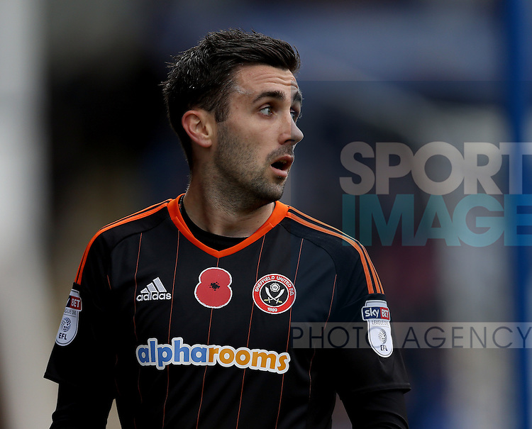 Danny Lafferty of Sheffield Utd during the English League One match at the Proact Stadium, Chesterfield. Picture date: November 13th, 2016. Pic Simon Bellis/Sportimage