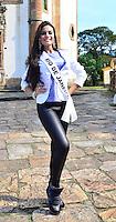 OURO PRETO, MG, 20.09.2013 - MISS BRASIL 2013 -Miss Rio de Janeiro, Orama Nunes  candidata a Miss Brasil 2013 durante visita a cidade historica de Ouro Preto a 100 km de Belo Horizonte. (Foto: Eduardo Tropia / Brazil Photo Press)