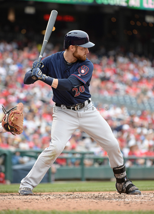 Milwaukee Brewers Jonathan Lucroy (20) during a game against the Washington Nationals on July 4, 2016, at Nationals Park in Washington DC. The Brewers beat the Nationals 1-0.