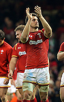 Sam Warburton of Wales thanks home supporters after the RBS 6 Nations Championship rugby game between Wales and Scotland at the Principality Stadium, Cardiff, Wales, UK Saturday 13 February 2016