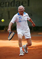24-8-07, Velp, Tennis, Nationale  Veteranen Tennis Kampioenschappen 2007, Frans Goosen  80+