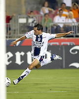 CF Pachuca midfielder Christian Gimenez (19) takes a shot on goal. CF Pachuca defeated Houston Dynamo 4-3 in penalty kicks after a 2-2 tie in regulation and extra time at Robertson Stadium in Houston, TX on August 14, 2007 in the SuperLiga semi-finals.
