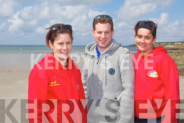TRI-FUN: Member's of the Valentia Island Triathlon club who competed in the Kerryhead Triathlon at Ballyheigue on Sunday l-r: Miriam Lyne, Keith Ownes and Aine Lyne.