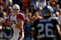 Sep 25, 2005; Seattle, WA, USA; Arizona Cardinals quarterback #12 Josh McCown drops back to pass the ball in the second quarter at Qwest Field. Mandatory Credit: Photo By Mark J. Rebilas