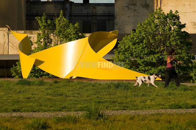 Sculpture by Ivan McLean in the Field Park, Portland, Oregon