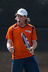 April 23, 2015; San Diego, CA, USA; Pepperdine Waves tennis player Tom Hill during the WCC Tennis Championships at Barnes Tennis Center.